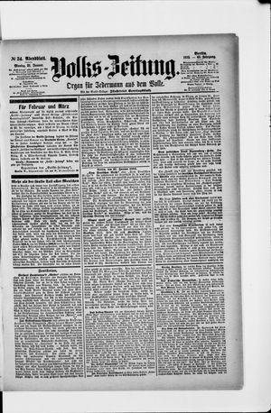Volks-Zeitung vom 21.01.1895