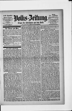 Volks-Zeitung vom 22.01.1895