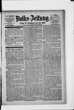 Volks-Zeitung vom 24.01.1895