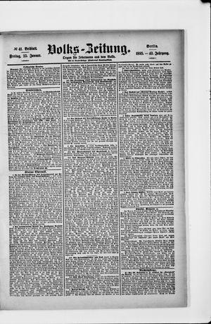 Volks-Zeitung vom 25.01.1895