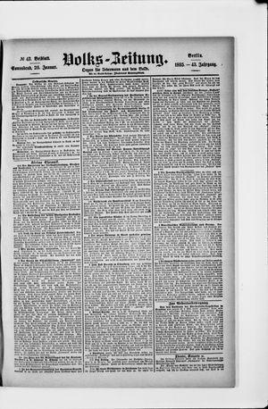 Volks-Zeitung vom 26.01.1895
