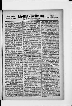 Volks-Zeitung vom 27.01.1895