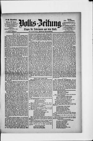Volks-Zeitung vom 28.01.1895