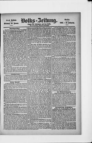 Volks-Zeitung vom 30.01.1895