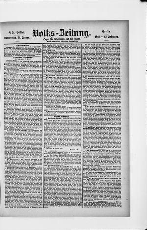Volks-Zeitung vom 31.01.1895