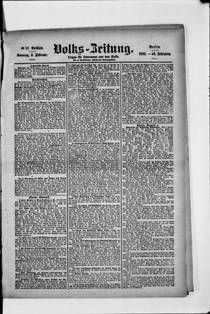 Volks-Zeitung vom 03.02.1895