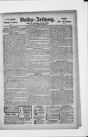Volks-Zeitung vom 06.02.1895