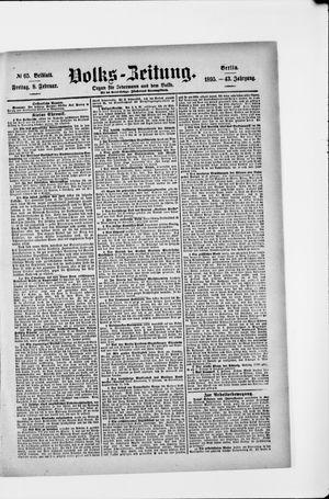 Volks-Zeitung vom 08.02.1895