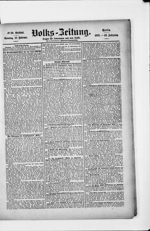 Volks-Zeitung vom 10.02.1895