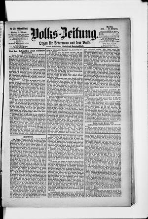 Volks-Zeitung vom 11.02.1895