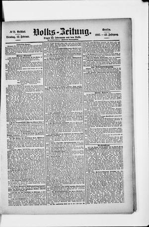 Volks-Zeitung vom 12.02.1895