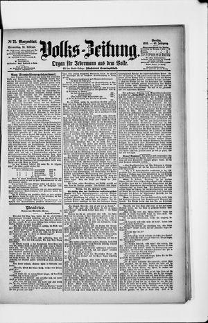 Volks-Zeitung vom 14.02.1895