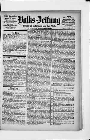 Volks-Zeitung vom 17.02.1895