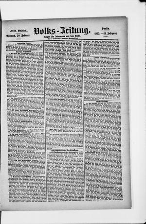 Volks-Zeitung vom 20.02.1895