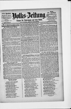 Volks-Zeitung vom 23.02.1895