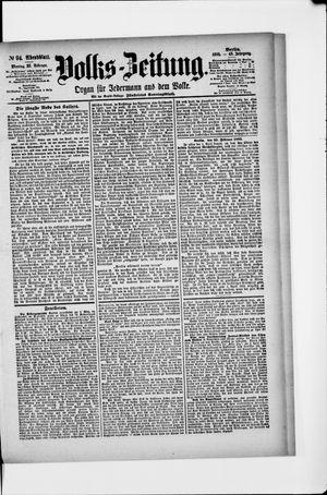Volks-Zeitung vom 25.02.1895