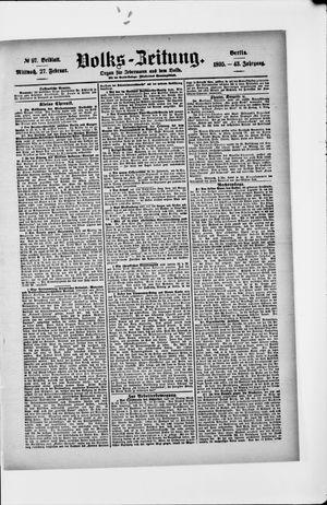 Volks-Zeitung vom 27.02.1895