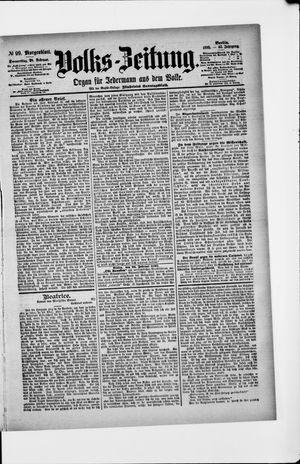 Volks-Zeitung vom 28.02.1895