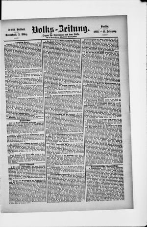 Volks-Zeitung on Mar 2, 1895