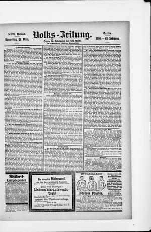 Volks-Zeitung vom 21.03.1895