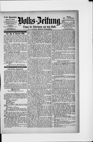 Volks-Zeitung vom 03.04.1895