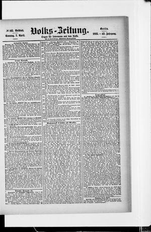 Volks-Zeitung vom 07.04.1895