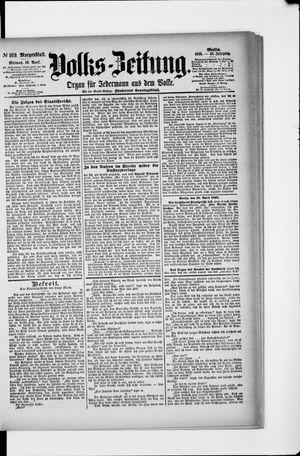 Volks-Zeitung vom 10.04.1895