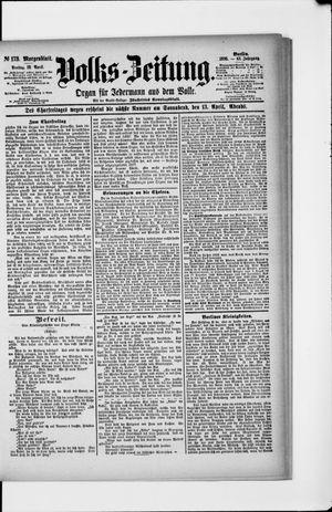 Volks-Zeitung vom 12.04.1895