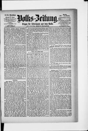 Volks-Zeitung vom 16.04.1895