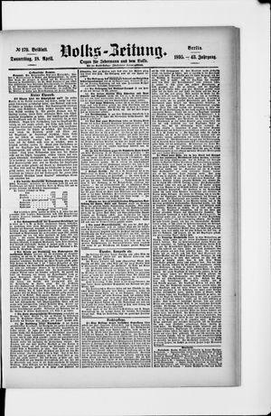 Volks-Zeitung vom 18.04.1895