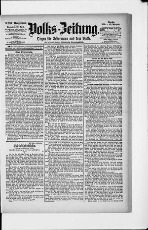 Volks-Zeitung vom 20.04.1895