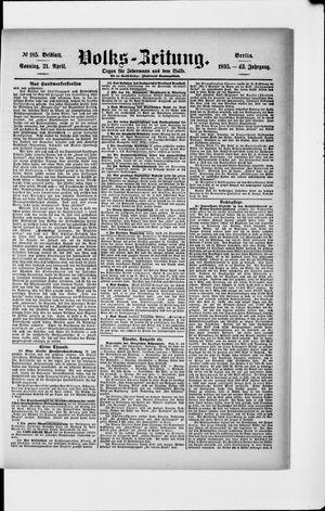 Volks-Zeitung vom 21.04.1895