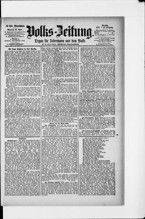Volks-Zeitung vom 24.04.1895