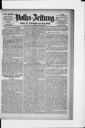 Volks-Zeitung vom 29.04.1895