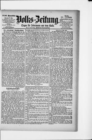 Volks-Zeitung vom 05.05.1895