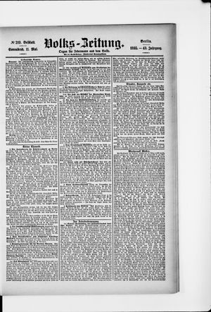 Volks-Zeitung vom 11.05.1895