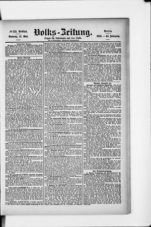 Volks-Zeitung vom 12.05.1895