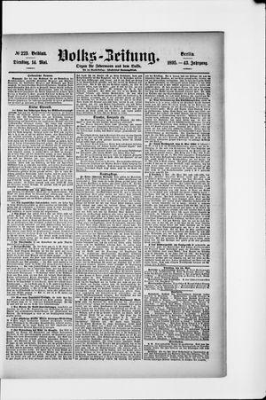 Volks-Zeitung vom 14.05.1895