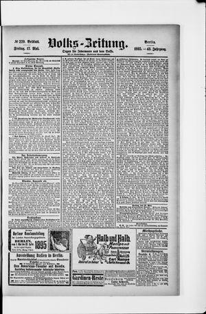 Volks-Zeitung vom 17.05.1895