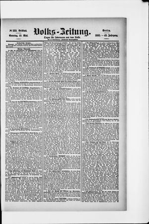 Volks-Zeitung vom 19.05.1895