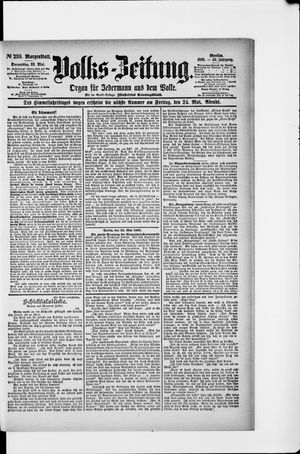 Volks-Zeitung vom 23.05.1895