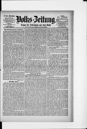 Volks-Zeitung vom 29.05.1895