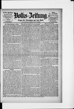 Volks-Zeitung vom 30.05.1895
