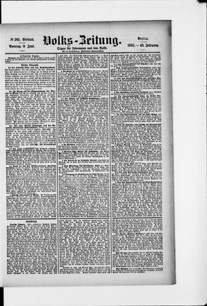 Volks-Zeitung vom 09.06.1895