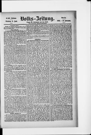 Volks-Zeitung vom 11.06.1895