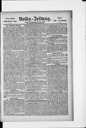 Volks-Zeitung vom 13.06.1895