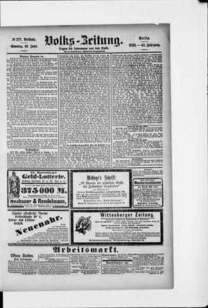 Volks-Zeitung vom 16.06.1895