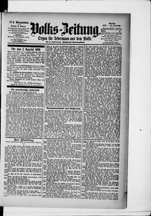 Volks-Zeitung on Jan 3, 1896