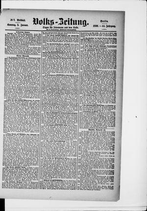 Volks-Zeitung vom 05.01.1896