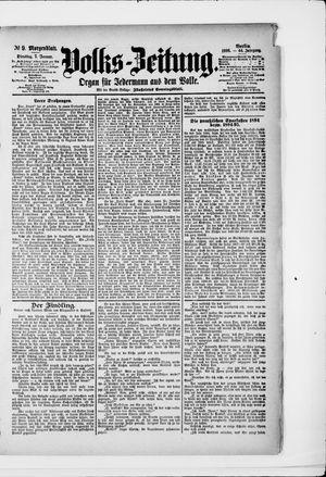 Volks-Zeitung vom 07.01.1896